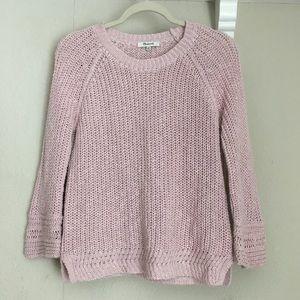 Madewell Blush Knit Crew Cotton Linen Sweater